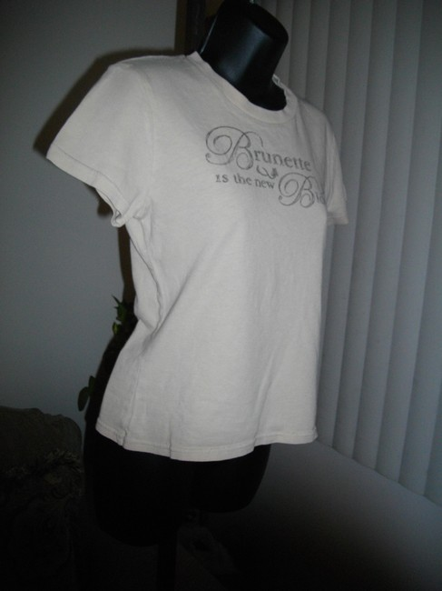 Abercrombie & Fitch Short Sleeves Tee Shirt Fits Small Ivory Sweater Image 1