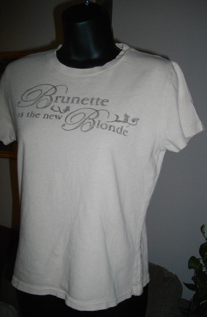 Abercrombie & Fitch Short Sleeves Tee Shirt Fits Small Ivory Sweater Image 2