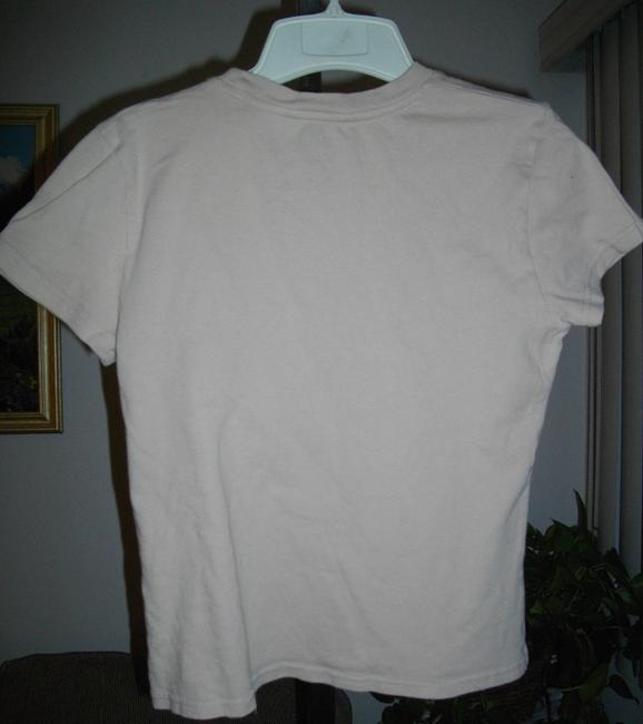 Abercrombie & Fitch Short Sleeves Tee Shirt Fits Small Ivory Sweater Image 4