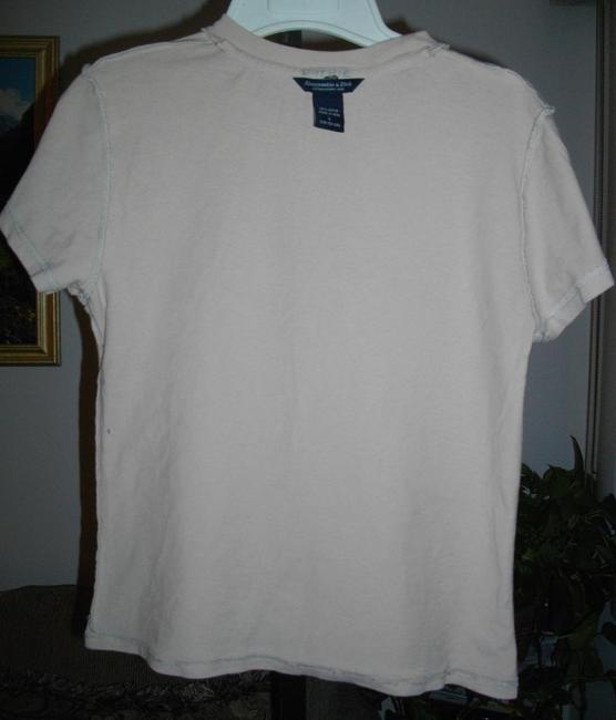 Abercrombie & Fitch Short Sleeves Tee Shirt Fits Small Ivory Sweater Image 7