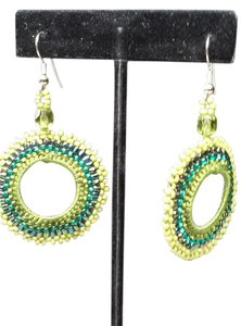 jjasmine GREEN DANGLE EARRING