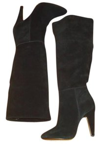 Steve Madden Knee High Suede Sz.6 Black Boots