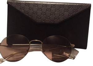 Gucci 52mm Round Gold color Sunglasses