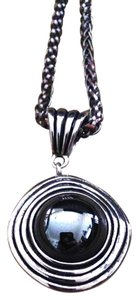 YouSi Vintage Silver Goddess Swirl Hematite Adjustable Necklace By YouSi
