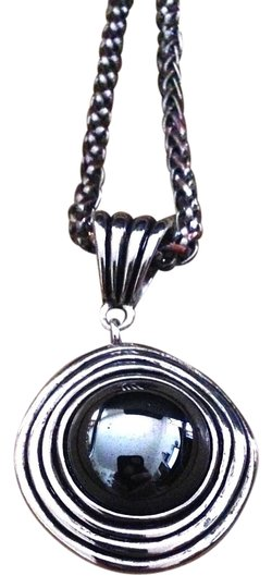 YouSi Vintage Silver Goddess Swirl Hematite Adjustable Necklace By YouSi Image 0