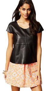 Anthropologie Moto Tee T Shirt Black