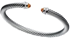 David Yurman David Yurman 5mm Cable Classics Bracelet with Citrine and Diamonds