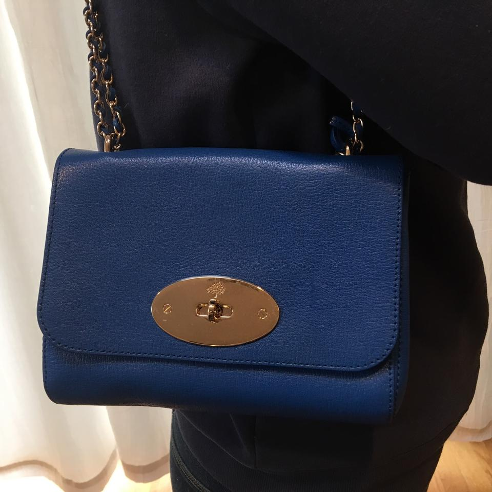 a06fe88843 Mulberry Lily Chain Flap Small Black Grained Leather Shoulder Bag ...