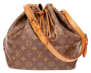 Louis Vuitton Noe Monogram Canvas Leather Tote in Brown