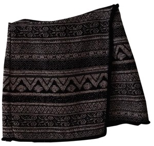 H&M Mini Skirt Black /white multi