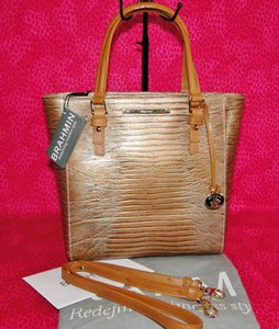 Brahmin Harrison Cabana Tote in Gold (Bronze)