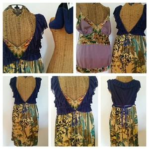 Free People short dress Boho Velvet Babydoll on Tradesy