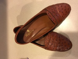 Brooks Brothers Brown Ostrich Flats