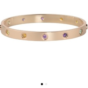 Cartier Cartier Rose Gold with Gemstones Love Bracelet sz 17