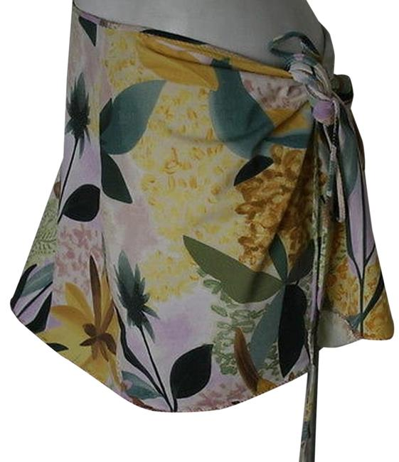 Missoni Mare Missoni Mare Green Yellow Brown Lavender Bathing Skirt Sz 42 Or 6 Wrap Image 0