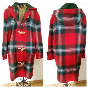 Ralph Lauren Plaid Toggle Blanket Coat
