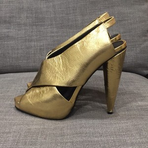 Jeffrey Campbell Gold Platforms