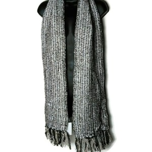 Charter Club Charter Club Brown Tweed Knit Fringe Scarf