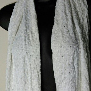 Charter Club Charter Club Ivory Chenille Textured Fringe Scarf