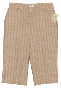 Christopher & Banks Capris Tan/White