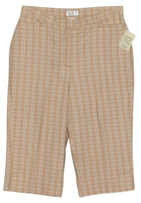 Preload https://item3.tradesy.com/images/christopher-and-banks-tanwhite-new-capris-size-12-l-32-33-202352-0-0.jpg?width=400&height=650