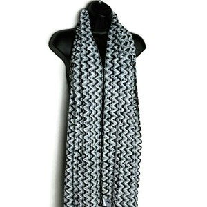 Charter Club Charter Club Chenille black knit fringe scarf