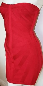 Hervé Leger Rio Stretch Bandage Strapless Dress