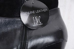 INC International Concepts Suede Leather Black Boots