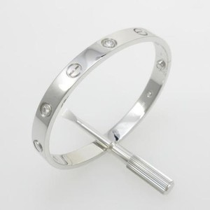 Cartier Cartier White Gold and 4 Diamond Love Bracelet sz 16