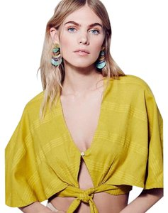 Free People Top Chartreuse