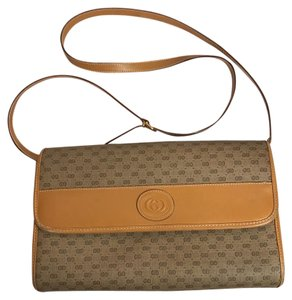 Gucci Vintage Clutches Monogram Cross Body Bag