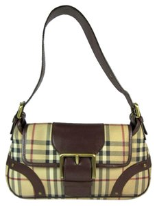 Burberry Nova Check Brown Beige Shoulder Bag