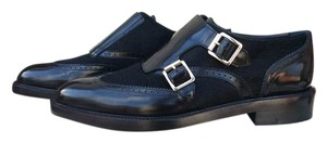 Burberry Oxford Brogue Creepers Black Flats