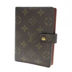 Louis Vuitton Agenda Pm Notebook Covers Monogram Brown Clutch