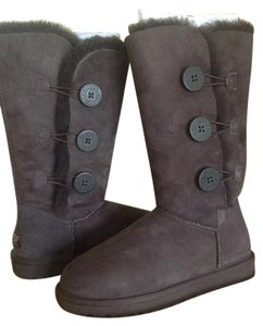 UGG Australia Bailey Button Triplet Brown Boots