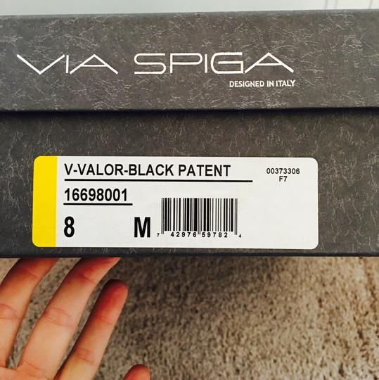 Via Spiga Patent Leather Suede Knee High Black Boots Image 7