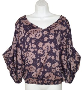 Anthropologie Kimono Dolman Cropped Boho Top