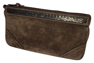 Coach Beaded Wristlet in Brown