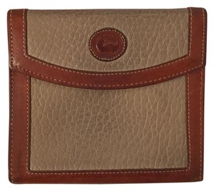 Dooney & Bourke Dooney and Bourke Leather Brown and Tan Wallet