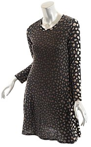Samantha Sung short dress Black & Brown Sweater Polka Dot 100% Wool on Tradesy