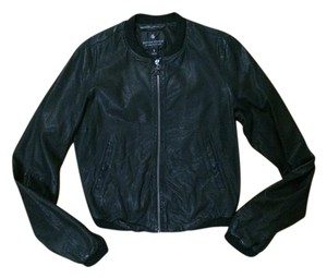 Maison Scotch Leather black Leather Jacket