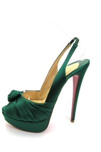 Christian Louboutin Green Platforms
