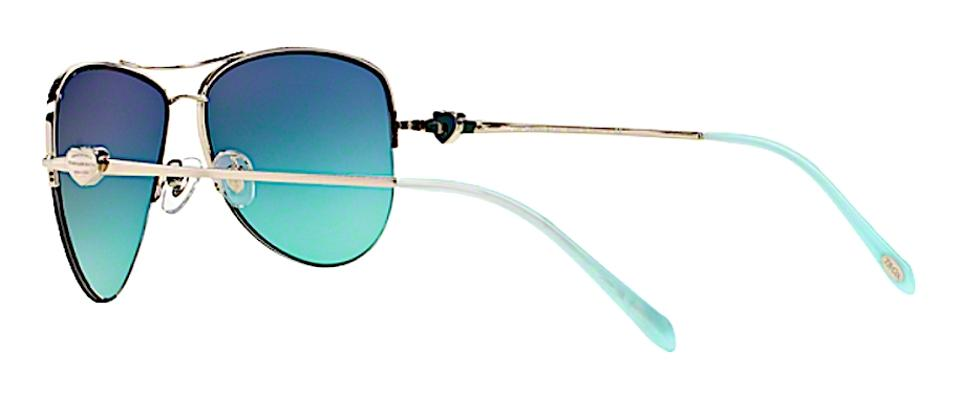 3bfee1f4d9 Tiffany   Co. Silver Blue Gradient Lens Tf 3021 60029s with - Free 3 Day  Shipping Sunglasses