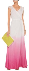 White pink Maxi Dress by Diane von Furstenberg
