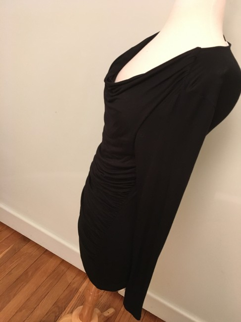 Carmen Marc Valvo Rusched Scoop Neck Sexy Tunic Image 3