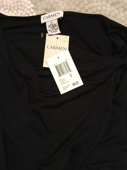 Carmen Marc Valvo Rusched Scoop Neck Sexy Tunic Image 5