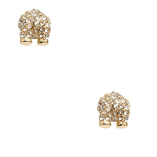 Kate Spade Kate Spade Cold Comforts Polar Bear Crystal & Gold Stud Earrings Image 2