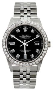 Rolex MIDSIZE ROLEX DATEJUST S/S 2.3CT WATCH WITH ROLEX BOX & APPRAISAL