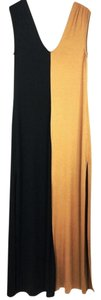 Black and tan Maxi Dress by Rachel Pally