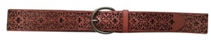 J. Jill Brown Leather Cutout Belt size XS/S